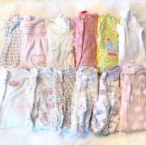 Huge bundle box baby girl clothes 0-3m to 12m
